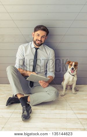 Businessman And Dog