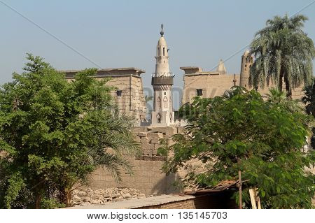 The islamic Mosque of Luxor in Egypt