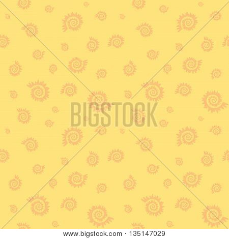 Seamless Abstract Organic Helix And Curl Pattern Background