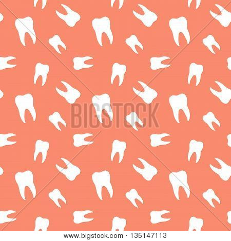 Seamless Molar Teeth Dental Clinic Pattern Background