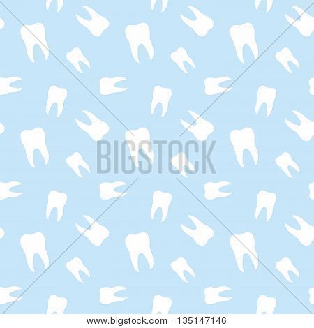 Seamless Teeth Dental Medical Clinic Pattern Background
