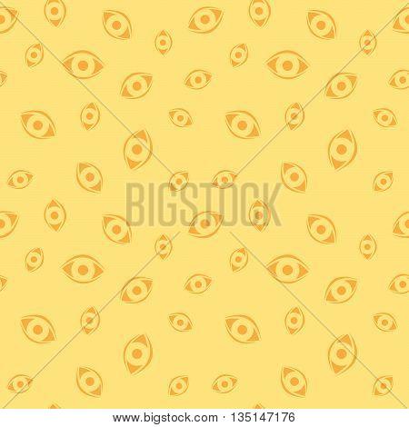 Seamless Human Eyeball Decorative Medical Pattern Background