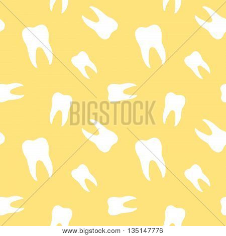 Seamless Molar Teeth Dentistry Clinic Pattern Background