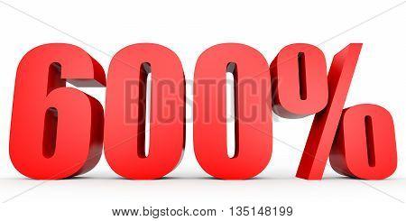 Discount 600 Percent Off. 3D Illustration.