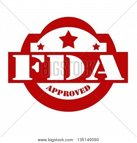 Red stamp with text FDA Approved, vector illustration
