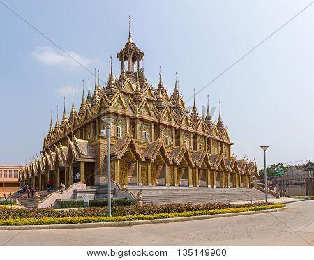 Thamai buddhism Temple province, Uthaithani  in Thailand