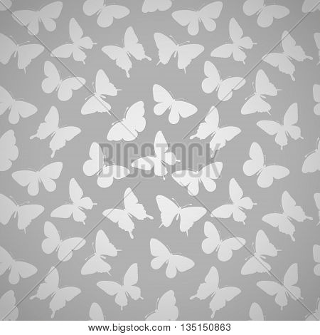 Beautiful seamless pattern with butterflies. Perfect for greeting card and invitations of the wedding birthday mother's Day.