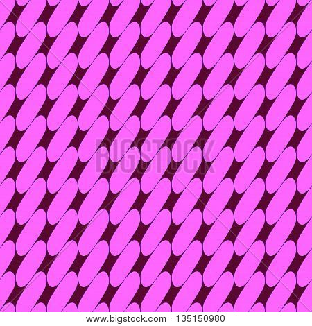 Oval geometric seamless pattern. Fashion graphic background design. Modern stylish abstract texture. Colorful template for prints textiles wrapping wallpaper website etc. Stock VECTOR illustration