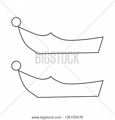 Turkish shoes icon in outline style on a white background