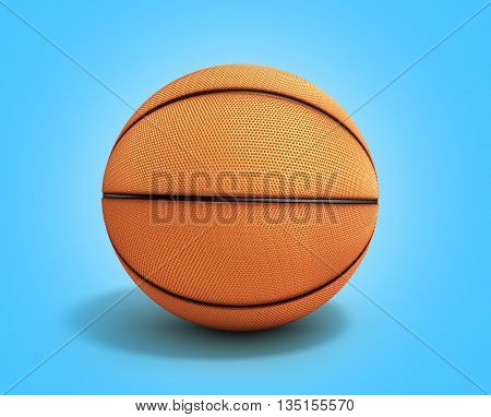 Basketball 3D Render On A Gradient Background