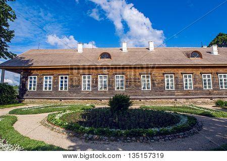Pushkinskiye Gory, Russia - June 5: Sunny day in may in the estate Trigorskoye. Reserve-Museum Mikhailovskoye Birthday of the great writer Alexander Pushkin , on June 5, 2016.