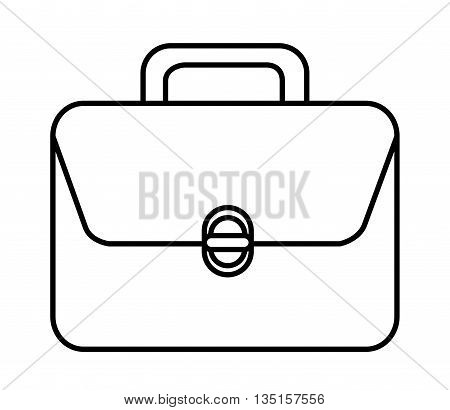 suitcase with white square over isolated background, vector illustration