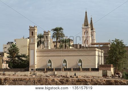 The Coptic Church of Luxor in Egypt