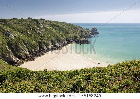 South coast of Guernsey island, UK, Europe
