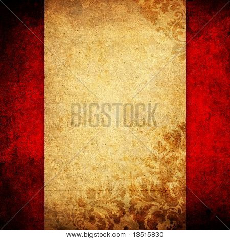 grunge layout with floral pattern