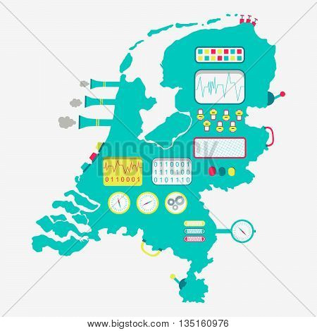 Map Of Netherlands Machine