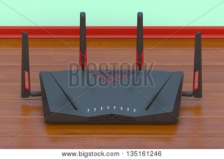 Dual-Band Wireless modern internet router 3D rendering