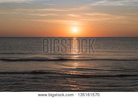 ocean sunset landscape with sunset for backgrounds