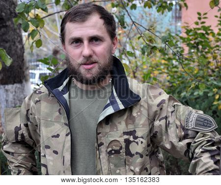 CHORTKIV - Ternopil - Ukraine - October 20 2014. Andrew Nagorno Cyborg