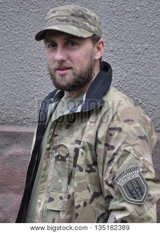 CHORTKIV - Ternopil - Ukraine - October 20 2014. Andrew Nagirny Cyborg