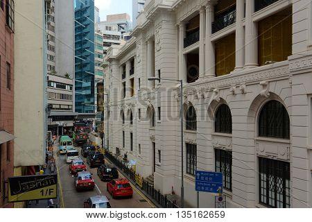 HONG KONG - NOV 9: Central Police Station was built in 1919 on Hollywood Road on Nov 9, 2015 in Hong Kong Island, Hong Kong.