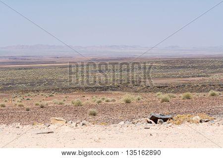 Scenery Of The Way In The Region Near Oranje River