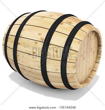3D Wine Barrel