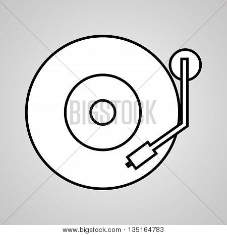 DJ electronic music party graphic design, vector illustration eps10
