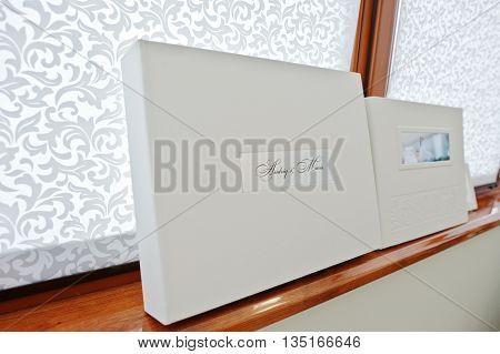 White Luxury Leather Wedding Book And Album