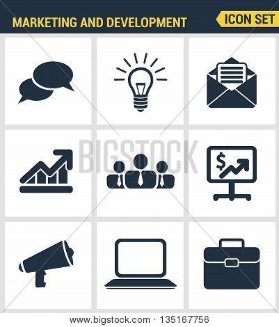 Icons Set Premium Quality Of Digital Marketing Symbol, Business Development Items, Social Media Obje