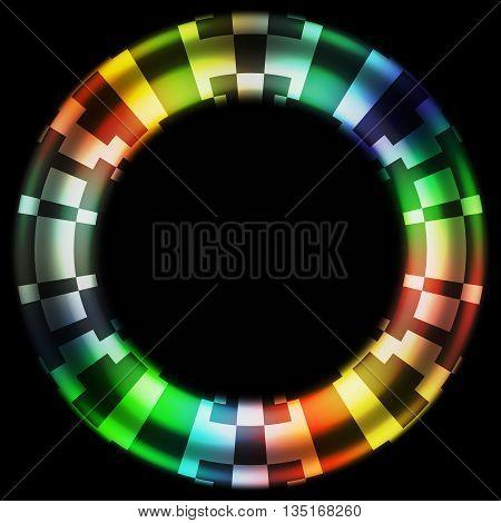 Black Hole Color Wheel Digital Camouflage Design Background