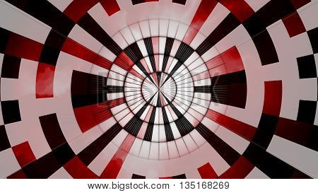 Abstract Black Red White Round Design Background