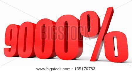 Discount 9000 Percent Off. 3D Illustration.