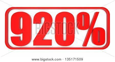 Discount 920 Percent Off. 3D Illustration.