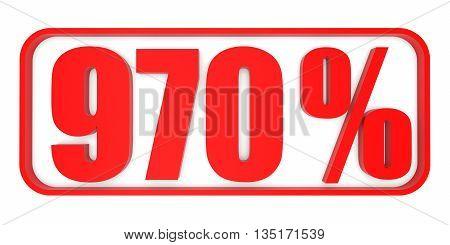 Discount 970 Percent Off. 3D Illustration.