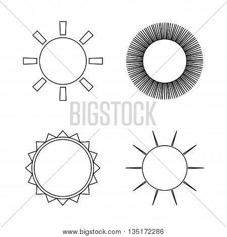 Summer and sun theme design, vector illustration graphic