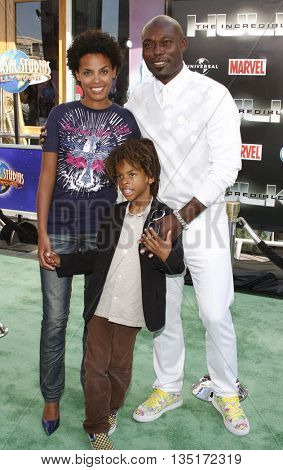 Jimmy Jean-Louis at the Los Angeles premiere of 'The Incredible Hulk' held at the Universal CityWalk in Hollywood, USA on June 8, 2008.
