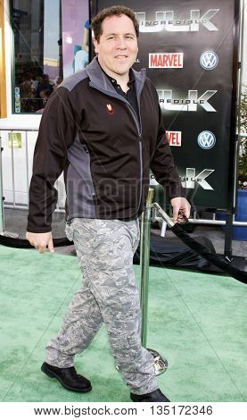 Jon Favreau at the Los Angeles premiere of 'The Incredible Hulk' held at the Universal CityWalk in Hollywood, USA on June 8, 2008.