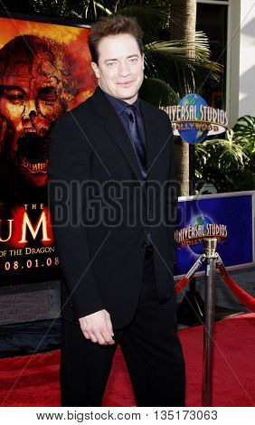 Brendan Fraser at the Los Angeles premiere of 'The Mummy: Tomb Of The Dragon Emperor' held at the Gibson Amphitheatre in Hollywood, USA on July 27, 2008.