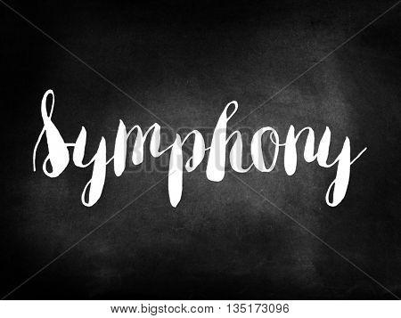 Symphony written on a chalkboard