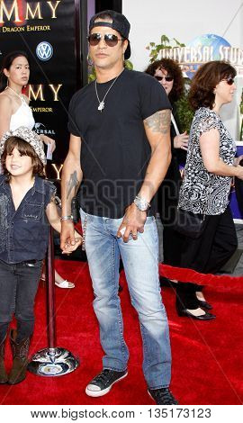 Slash at the Los Angeles premiere of 'The Mummy: Tomb Of The Dragon Emperor' held at the Gibson Amphitheatre in Hollywood, USA on July 27, 2008.