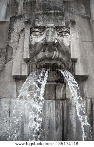 Face Fountain, Milano Centrale Station, Milan, Italy