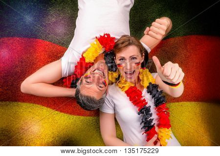 german couple going for goal