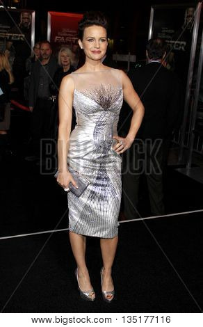 Carla Gugino at the Los Angeles premiere of 'Faster' held at the Grauman's Chinese Theater in Hollywood, USA on November 22, 2010.