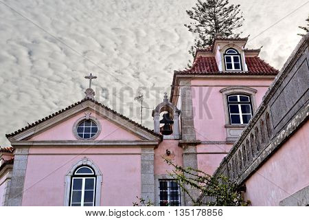OEIRAS, PORTUGAL - November 4, 2015: View of the chapel adjacent to the Palace of Oeiras on November 4, 2015 in Oeiras, Portugal