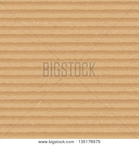 Vector Brown Cardboard Seamless Background. Close-up Of Cardboard Grunge Texture. Abstract Design El