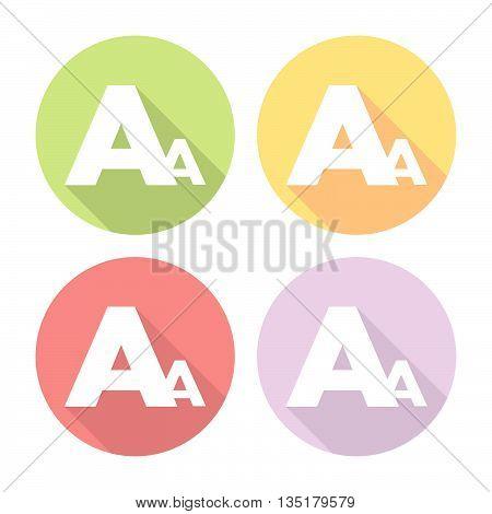 Font Type Letter Flat Icons Set