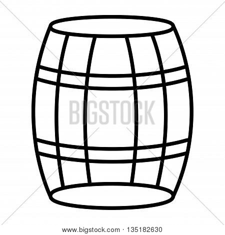 white barrel front view and black stripes over isolated backgound, vector illustration