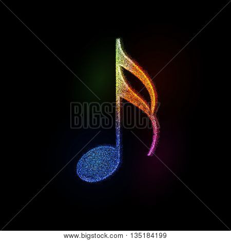 abstract music notes design for music background