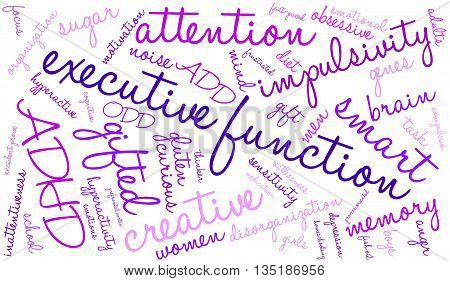 Executive Function Word Cloud